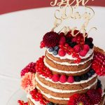 Naked cake with all sorts of berries and decorated withhellip